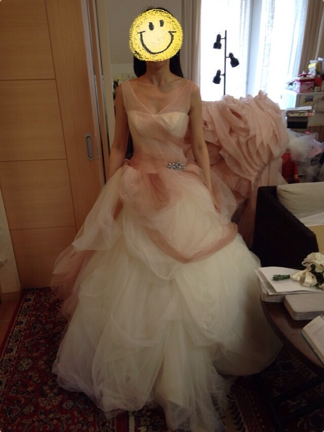 茶子のブログ☆White by Vera Wang☆グラデーション プリンセスドレス