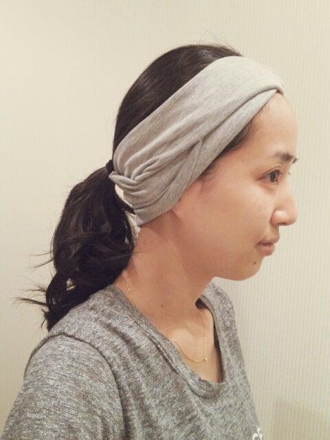 洗顔風にならないヘアバンドの付け方