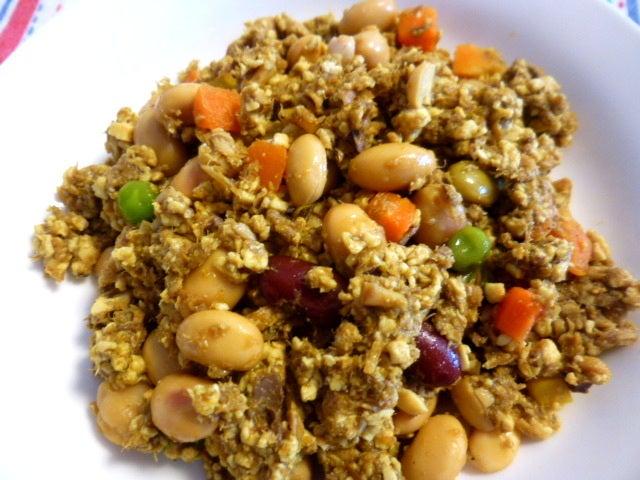 豆腐と豆のドライカレー