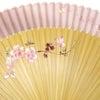 ■婦人用扇子2014。モダンで可愛らしい絹張り扇子。携帯用ケース付。蝶、花。プレゼントにもお勧めの画像