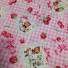 赤ずきんちゃん柄の布の画像