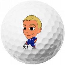 サッカー応援!似顔絵ゴルフボール