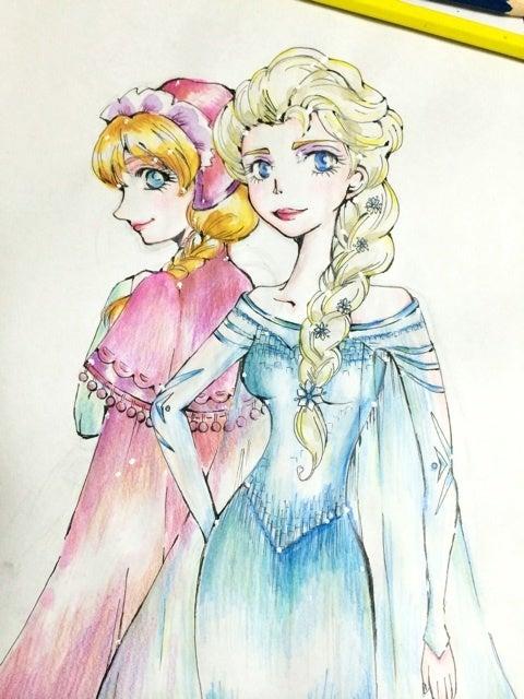 アナとエルサのイラスト ファッションだいすき お仕事趣味ブログ