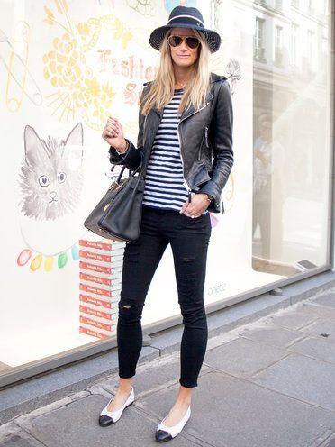 【Parisスナップ】 ライダースってチョットあれね。|パリジェンヌ シンプルファッション・好きな服だけのワードローブとおしゃれのコツ
