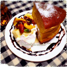 分厚いホットケーキ …