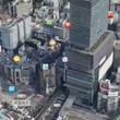 東京都内の地図が立体…