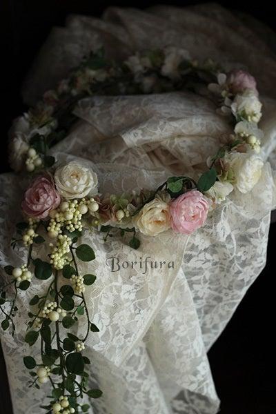 ウエディング 花かんむり