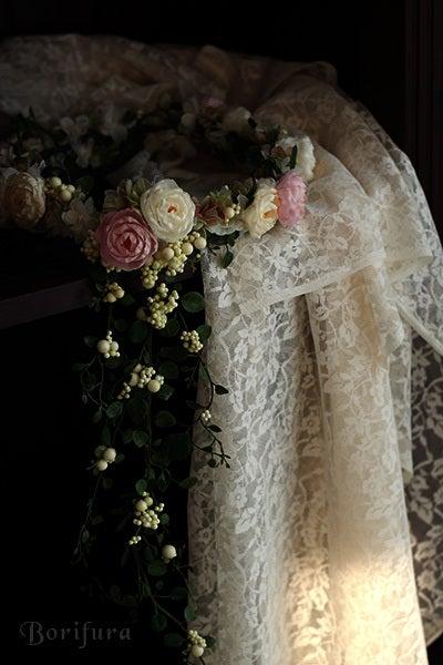 ウェディング 花冠