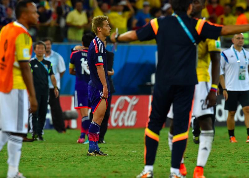本田圭佑 ブラジルワールドカップ W杯 日本代表 コロンビア グループC グループリーグ敗退