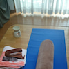 自宅でグラヴィティヨガ~自主練習中~の画像