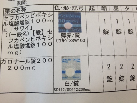 セフカペンピボキシル塩酸塩錠 風邪