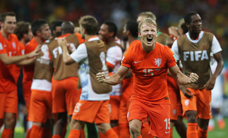 ブラジルワールドカップ W杯 ベスト4 準決勝 ネイマール離脱 ブラジル アルゼンチン ドイツ オランダ