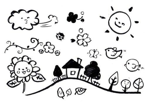 Popに使える 簡単かわいいイラストの描き方講座 販促ヒント満載 すごはん まっす のブログ