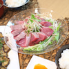 2日分の夕食☆かつおの刺身 寺島ナスの甘辛焼き 肉じゃがの画像
