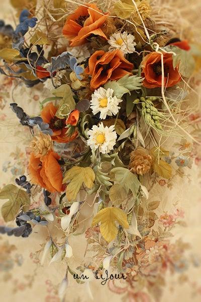花束 野 オレンジ