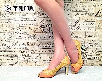 革靴印刷亀甲