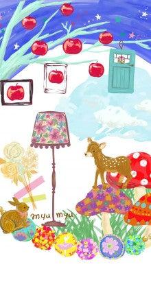 Iphone 用壁紙作ってみたよ オシャレバンビきのこ和え イラストレーター制作笑いと癒しの花園 ミュウミュウ