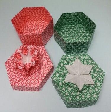 長方形の紙 A4 1枚で折る 箱の ...