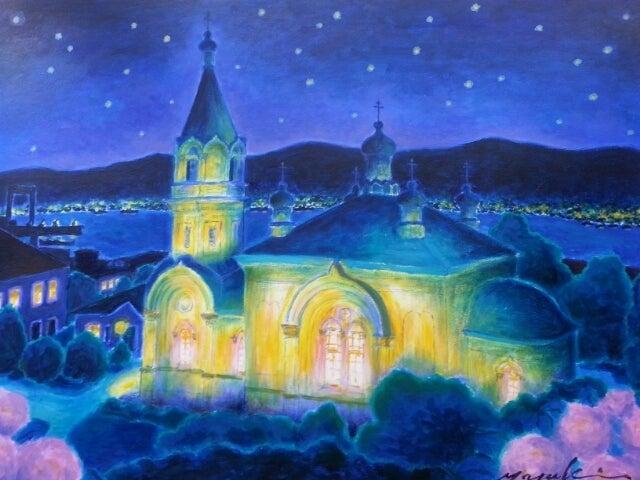 癒しのアーティスト、ムッシュユキ函館の夜景