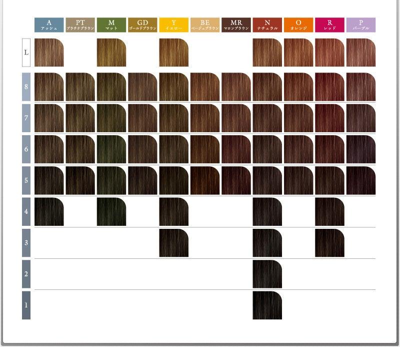ヘア カラー カラー チャート