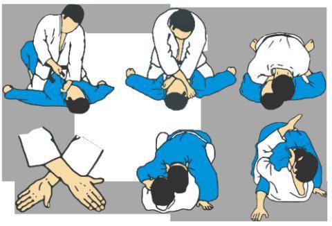 柔道 『固の形』 2絞技 片十字絞...