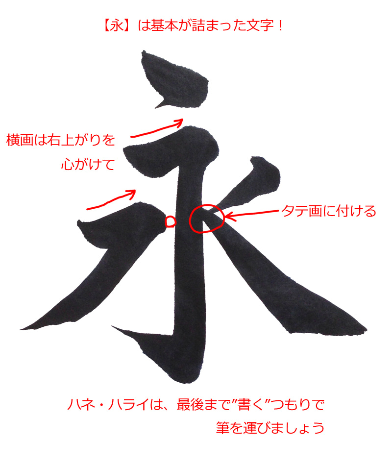 いっぱい詰まっている漢字【永】 | 美字人書家 たん藍