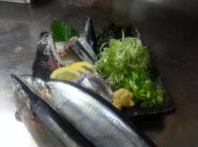 秋刀魚刺身¥750