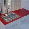 ガラス天板のキッチン Ⅱの画像