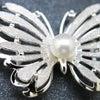 ■銀製帯留|蝶を模った、華やかな銀製帯留。淡水パール、訪問着、結婚式、パーティーなどにお勧め。の画像