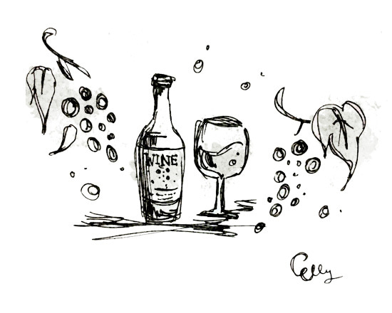ワインイラスト フリー素材 Queen Majesty