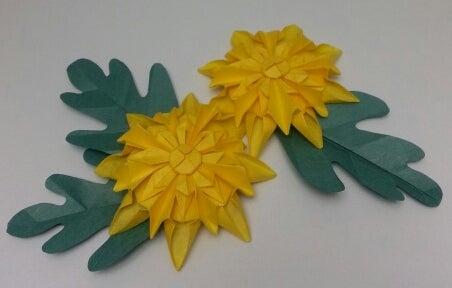 クリスマス 折り紙 折り紙 菊の花 : ameblo.jp