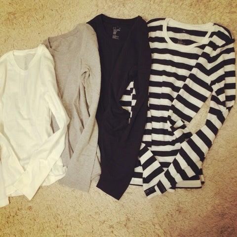 無印良品♡1000円クルーネック長袖Tシャツ♡