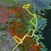 GPS地上絵19「小平こげら?(こだいらこげら?)」(GPS drawing)の画像