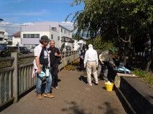 田宿川では冷たい湧水麦茶を用意