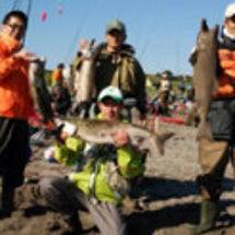 オホーツク鮭釣りツア…