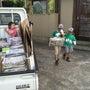 小学校の廃品回収終了…