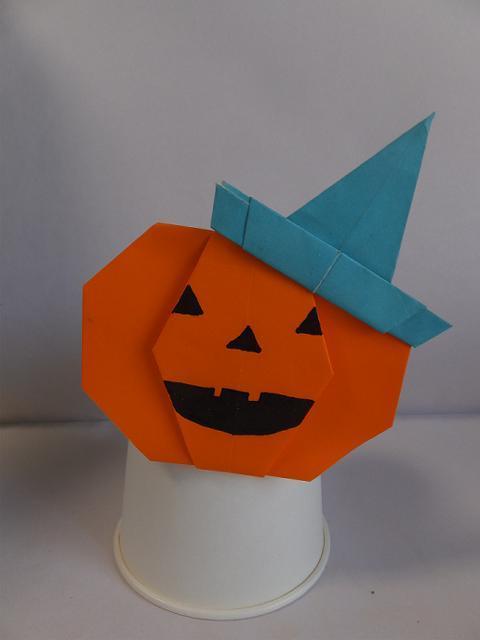クリスマス 折り紙 折り紙 ハロウィン かぼちゃ : ameblo.jp