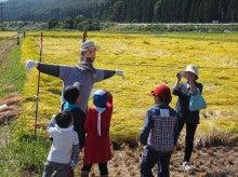 2014092728稲刈りツアー04案山子のお迎え