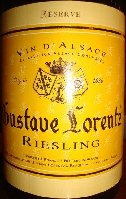 Alsace Gustave Lorentz Riesling 2010