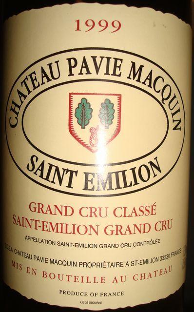 Chateau Pavie Macquin 1999