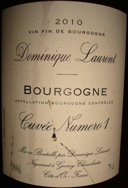 Bourgogne Cuvee Numero1 Dominique Laurent 2010