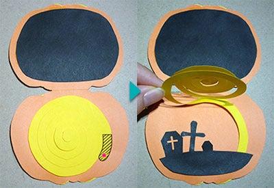 手作りハロウィンカード 作り方4
