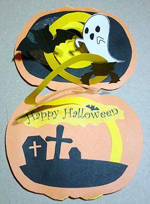 手作りハロウィンカード 作り方8