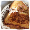 急に食べたくなって、フレンチトーストで朝食★の画像