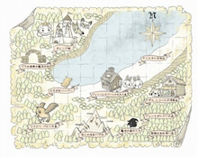 オレンジ王国の地図