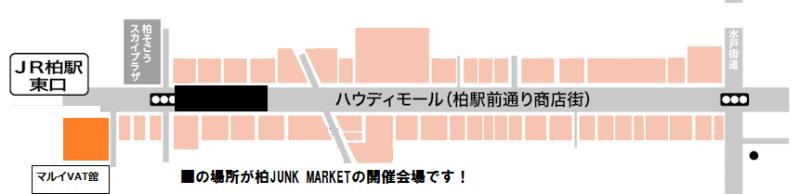 柏ジャンクマーケットの開催場所MAP