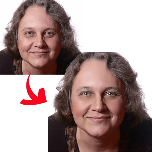 顔写真 修正加工A