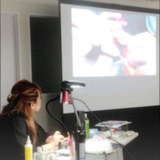 water color and gel MIX seminar at Maki Mukai