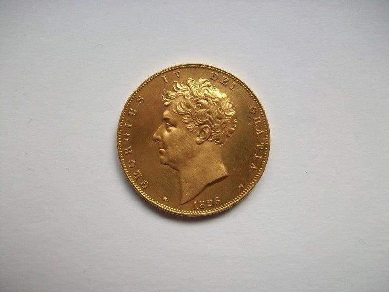 1826年 5ポンドジョージ4世 入手...