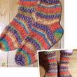 メリヤス編みの靴下